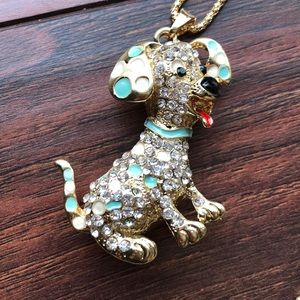 BETSEY JOHNSON PUPPY DOG NECKLACE